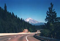 Mt. Shasta as seen from the south on Highway I-5