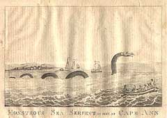 'Monstrous Sea Serpent As Seen at Cape Ann'
