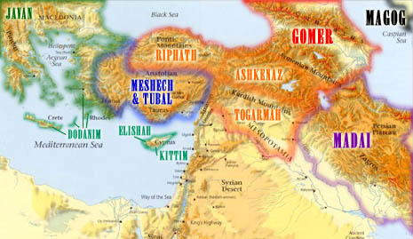 Sons Of Noah Map http://bibleproject.blogspot.com/2004_01_03_archive.html