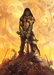 'The Barbarian' &copy Frank Frazetta
