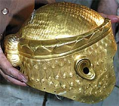 Golden Helmet of King Mes-Kalam-Dug (2450 B.C.), Ur