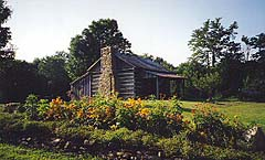 Samuel Lyle Log House, Pondlick Herb Farm, Seaman, Ohio