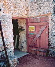 The 'Magic Door' to Ed's workshop