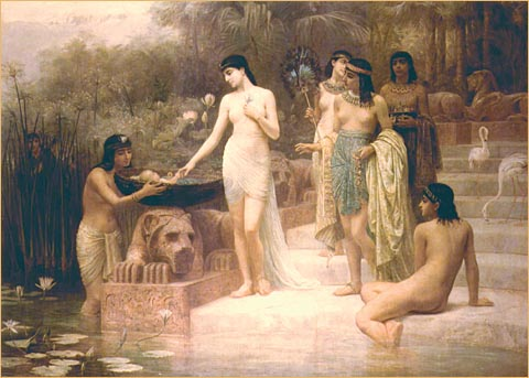 'The Finding of Moses', by Edwin Long
