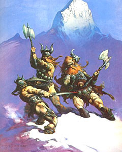 'Snow Giants' � Frank Frazetta. Click here to purchase.