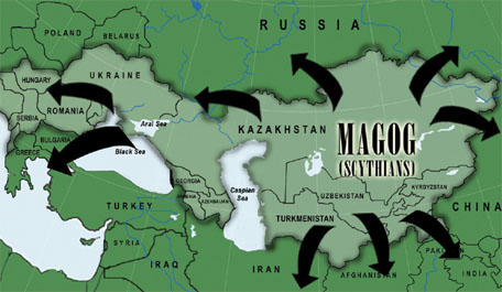 Map of Central Asia, the ancient homeland of Magog. Image � 2006 Mysterious World.